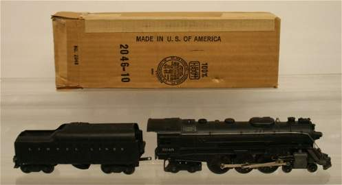 81: LIONEL 2046 POSTWAR LOCOMOTIVE & TENDER