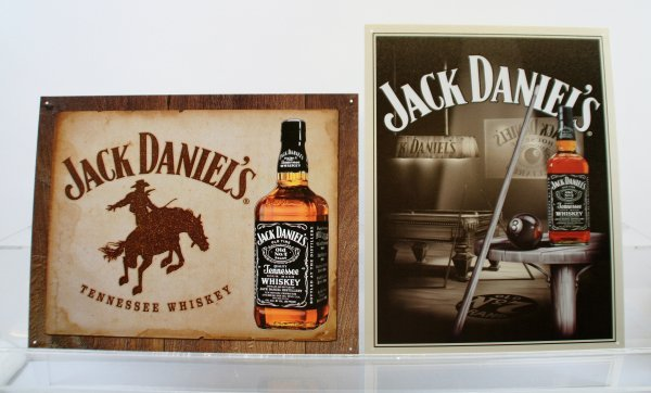219: Lot of 2 Jack Daniel's Tin Signs