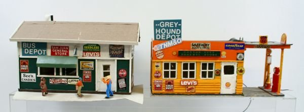 """407: Lot of 2 """"G"""" Scale Buildings"""