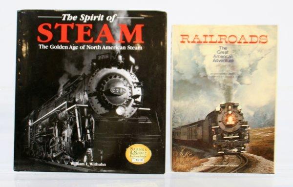 424: Lot of 2 Train Books