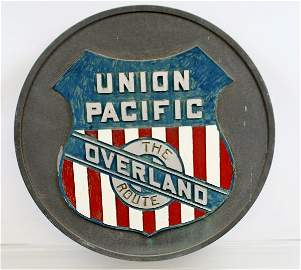 589: Union Pacific The Overland Route Drumhead Sign