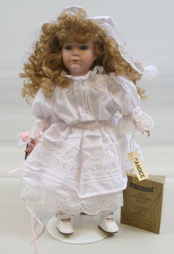 "623: 623: Seymour Mann Porcelain 14"" Doll Candice"