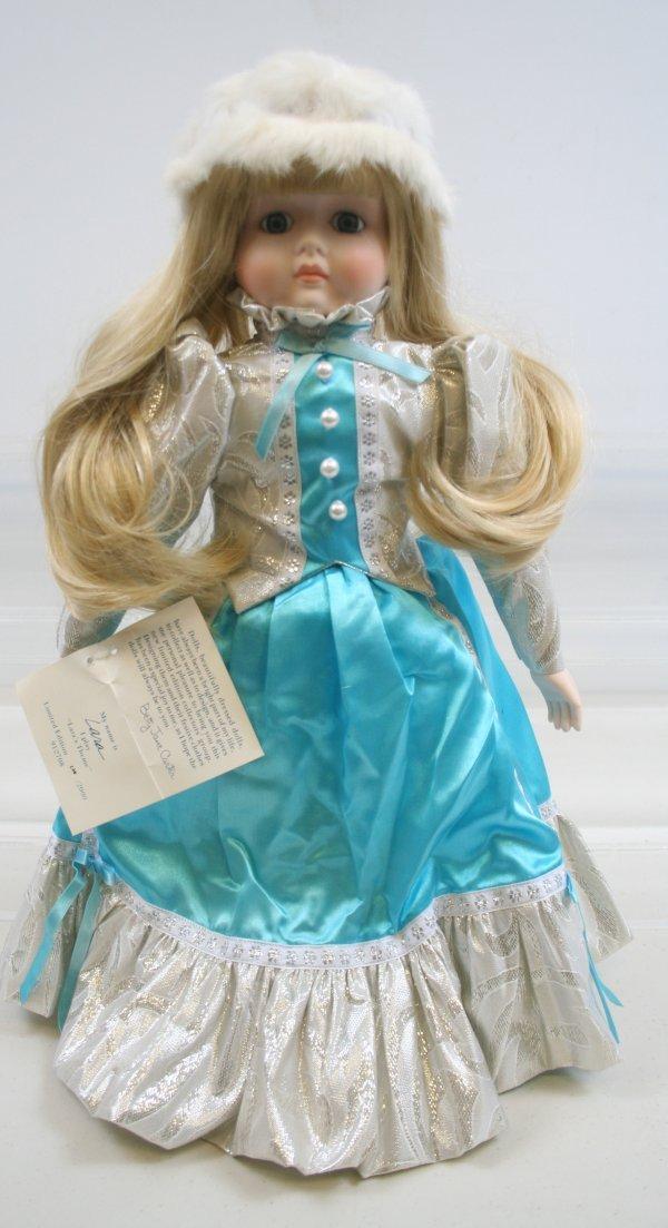 627: 627: Betty Jane Carter Porcelain Musical Doll Lara