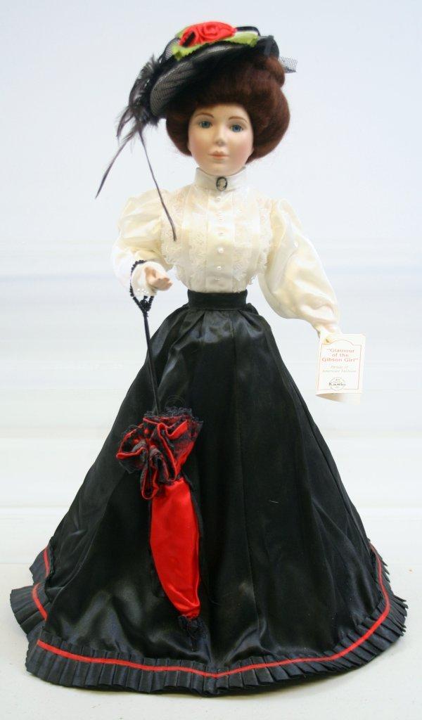 """630: 630: Mary Stevens Porcelain Doll """"Gibson Girl"""""""