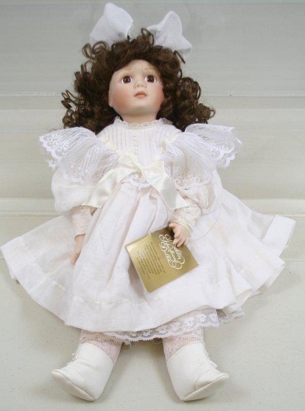 "631: 631: Franklin Heirloom Porcelain Doll 19"" Tall"