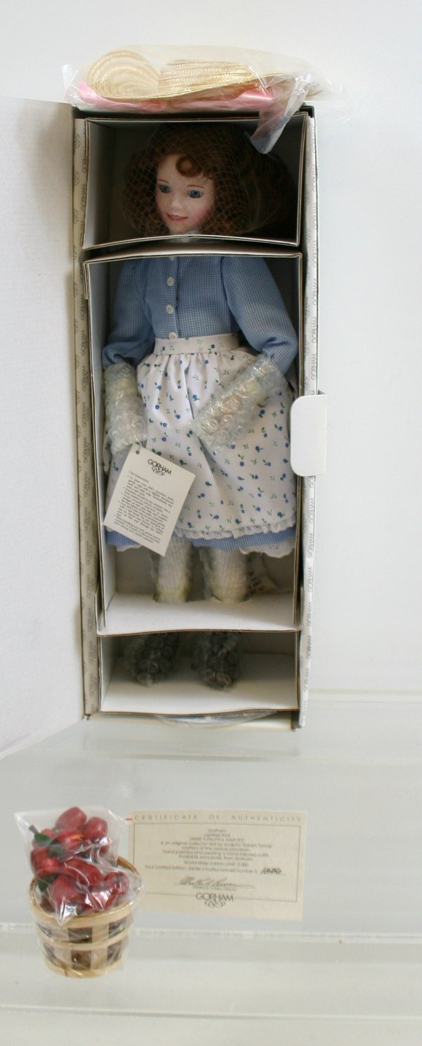 "639: 639: Gorham Fin Porcelain Doll ""Jamie's Fruitful H"