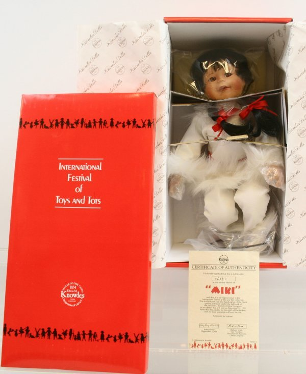 """640: 640: Knowles China Company """"MIKI"""" Porcelain Doll N"""