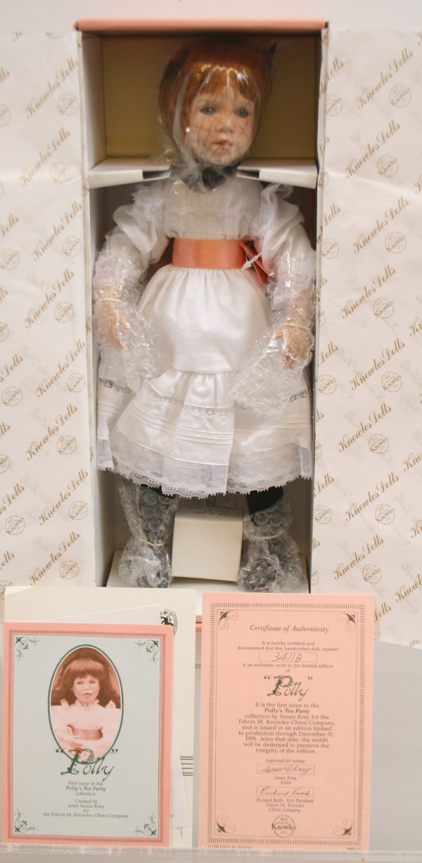 """641: 641: Knowles China Company """"Polly"""" Porcelain Doll"""