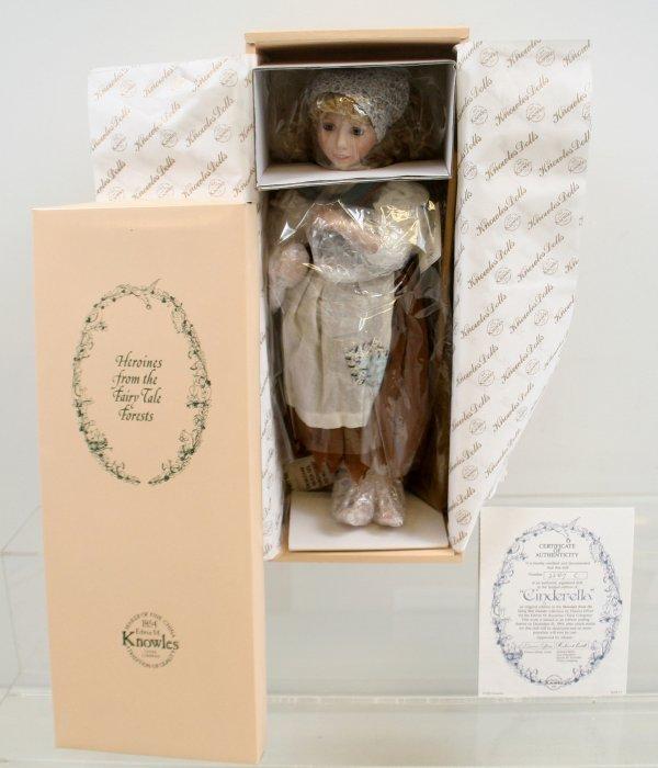643: 643: Cinderella Porcelain Doll by Dianna Effner NI