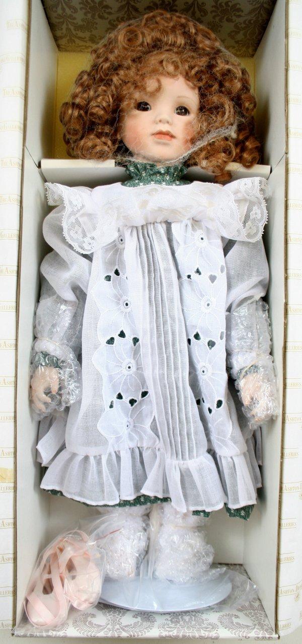 644: 644: Katrina Porcelain Doll by Gaby Rademann NIB
