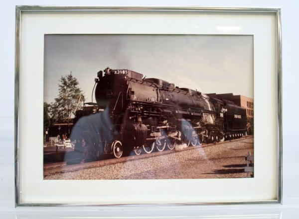 826: 826: Union Pacific #3985 Locomotive Picture Framed