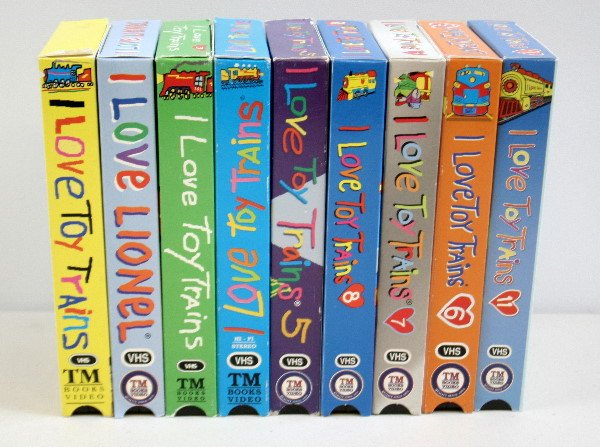 130: Lot of 9 VHS I Love Toy Trains Videos