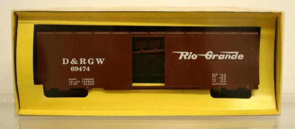 201: American Models S Gauge D&RGW Boxcar Kit High Rail