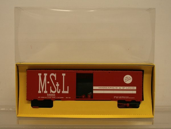 209: American Models S Gauge M-StL Boxcar High Rail Kit