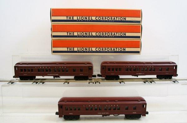 309: Lionel Lot of 3 Postwar Madison Cars