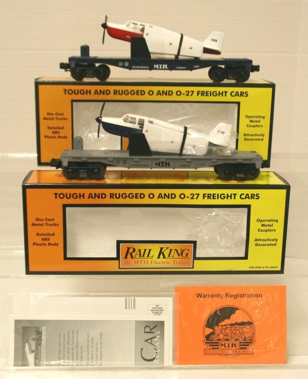 388: MTH 30-7672 & MTH 30-7621 Flat Cars w/Airplanes