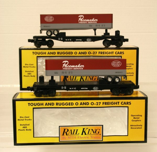 389: 2 MTH 30-7608 NYC Pacemaker Flatcar