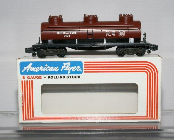 413: American Flyer 4-9104 Boston & Maine Tank Car 4-91