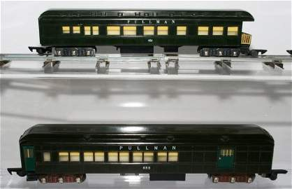 497: American Flyer Dark Green Pullman Cars 652 652 653