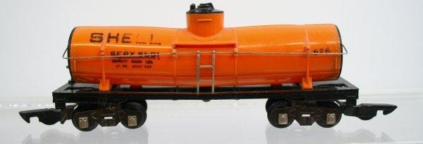 574: American Flyer Orange 625 Tank Car Very Rare