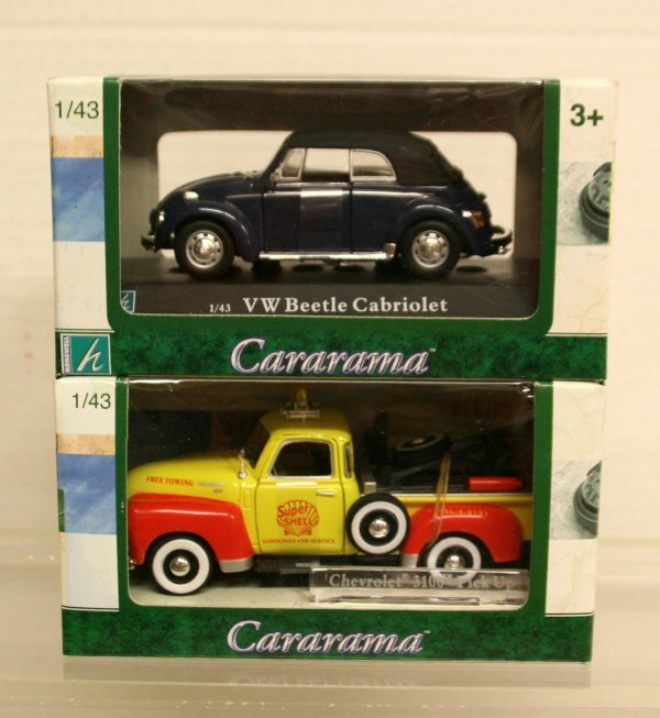 103: Cararama 1/43 Scale Die Cast Autos Tow Truck/VW