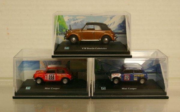 104: Cararama Ho Scale Mini Coopers/VW