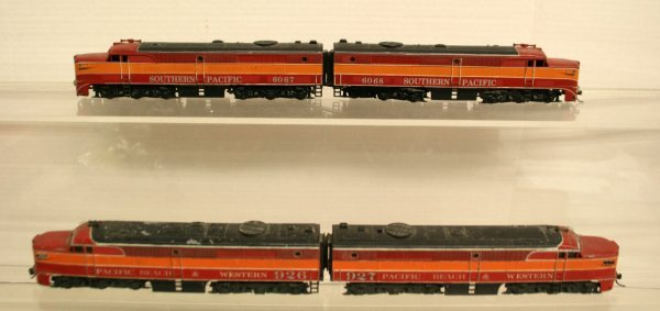 111: Athearn HO-Gauge 2 Sets PA1 Alco Southern Pacific