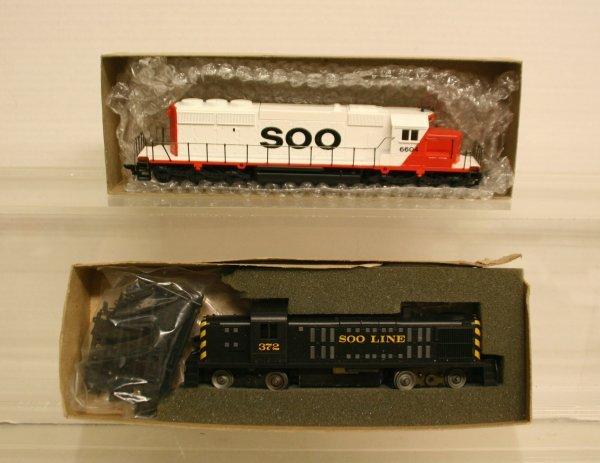 113: Athearn HO-Gauge 2 Soo Line Diesel Loco 1-RS3 Powe