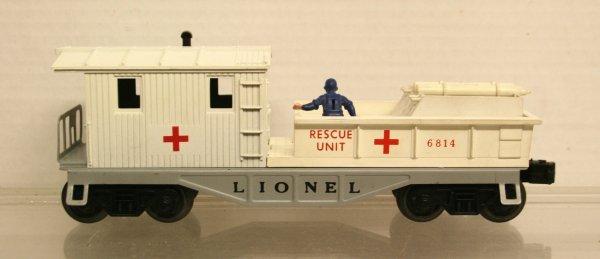 177: Lionel O-Gauge Postwar 6814 Rescue Caboose