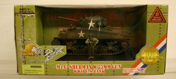 308: 21 st Century 1:32 Scale WWII US Tank M4A3 Sherman