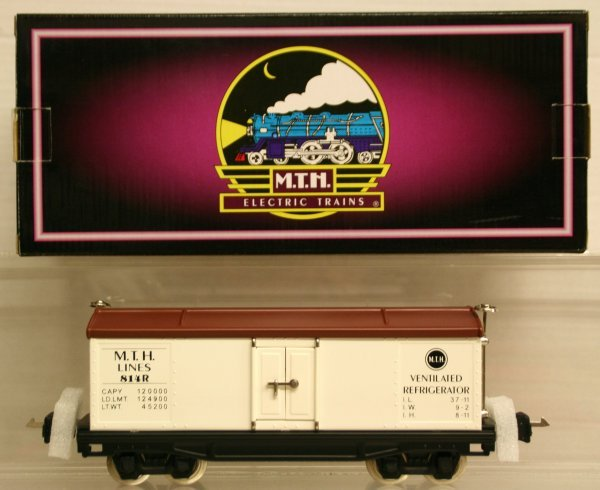 323: MTH Tinplate Traditions O-Gauge No. 814R Reefer Ca