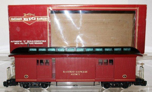 504: Bachmann G-Gauge Four Door  Baggage Car REA
