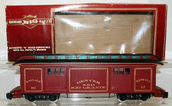506: Bachmann G-Scale 4 Door Baggage Car  DR&G
