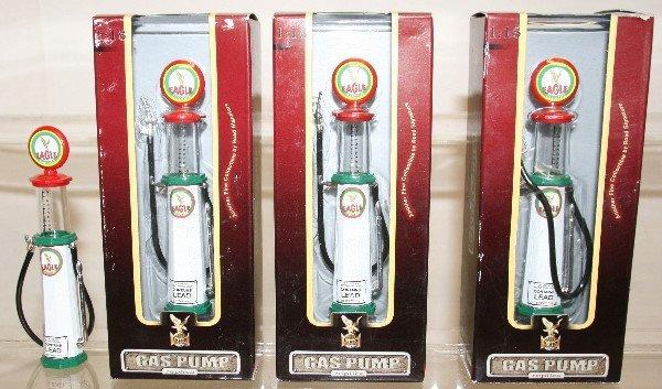 513: Lot of 4 Die Cast Metal Gas Pumps 1:18 Scale