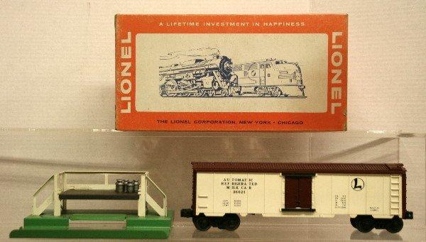 676: Lionel O Gauge 3663 Operating Milk Car