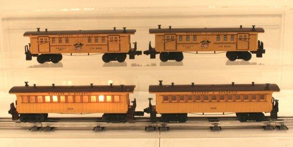 807: Lionel O Scale 4 Postwar Passenger Cars Western &