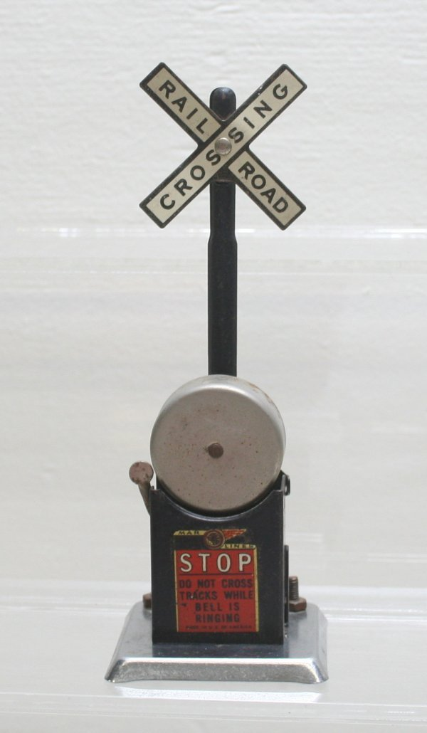 1010: Marx Railroad Crossing Stop With Bell O Gauge