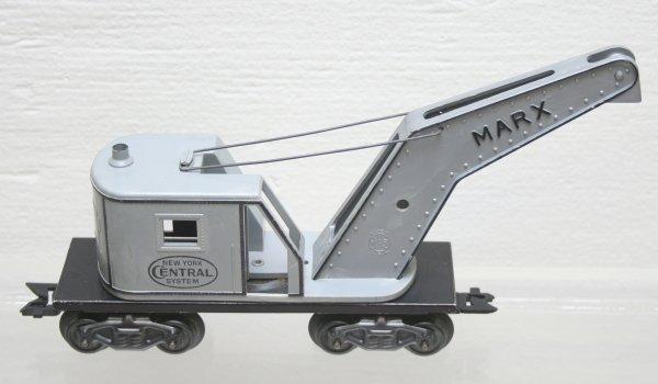 1021: Marx O-Gauge NYC Grey Plastic Crane Car
