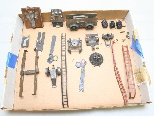 1022: Lionel Prewar Parts Lot-Motor-Boiler Front-Trucks