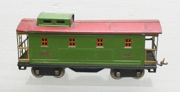 1213: Lionel Prewar Standard Gauge 517 Caboose