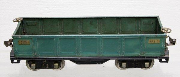 1214: Lionel Prewar Standard gauge 512 Gondola