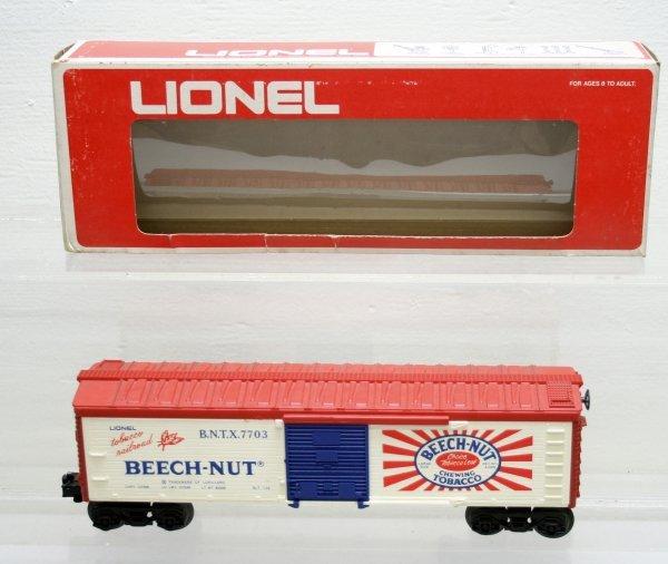 1215: Lionel O Gauge BeechNut Gum 7703 Boxcar