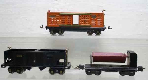 1222: Lionel O Gauge Prewar 813,816,3659 Cars