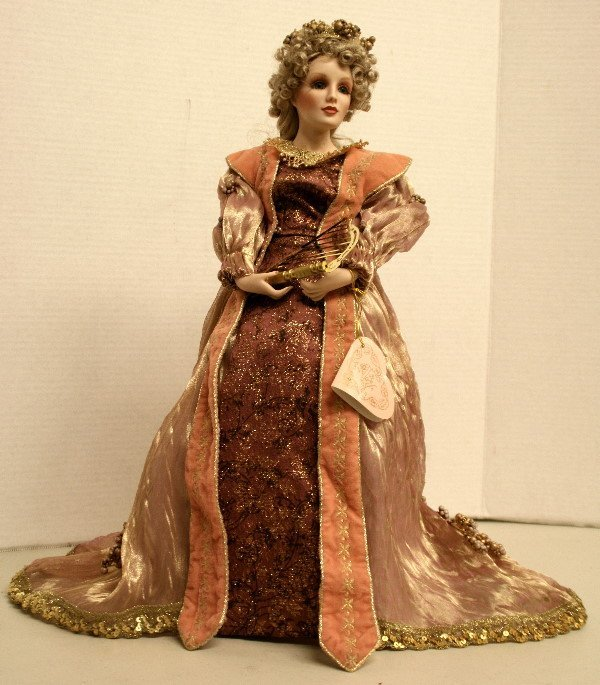 1504: Franklin Mint - Maryse Nicole Porcelain Lady Doll