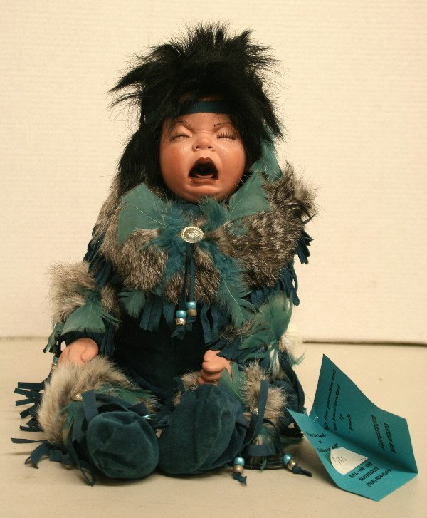 1507: Oh! What A Doll!! By Brenda Porcelain Baby Indian