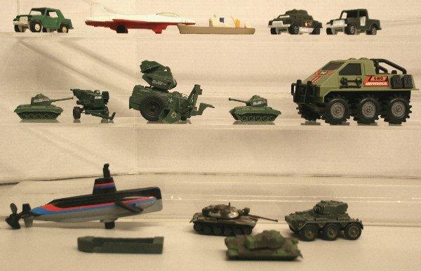 1517: Misc. Army Vehicles Tootsie GI Joe Zylmex Corgi