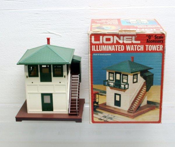 1903: Lionel O Gauge Illuminated Watch Tower 6-2319