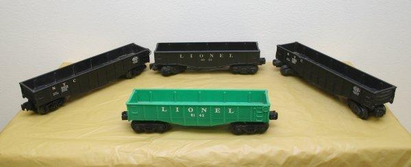 2614: Lionel O Gauge Postwar Gondola Lot