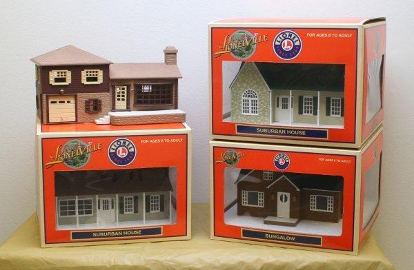 2615: Lionel O Gauge 4 House Lot