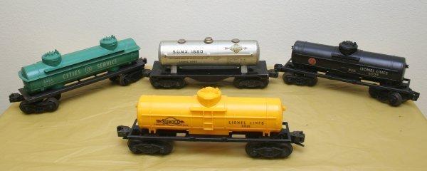 2621: Lionel O Gauge Tank Car Lot
